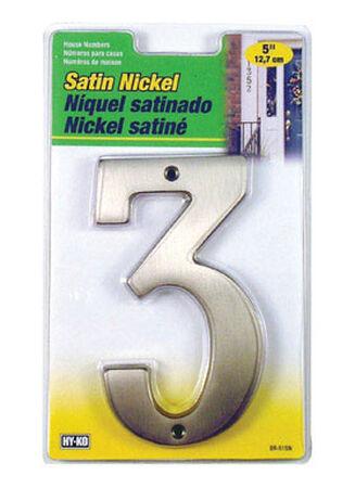 Hy-Ko Nail On Satin Nickel Number 3 5 in.