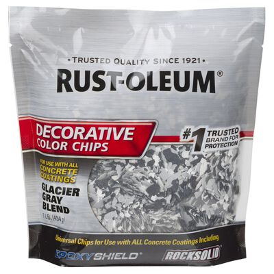 Rust-Oleum Decorative Color Chips Satin Gray Blend 1 lb.