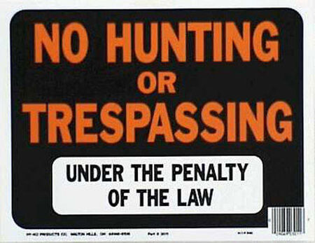 Hy-Ko English 9 in. H x 12 in. W Plastic Sign No Hunting or Trespassing