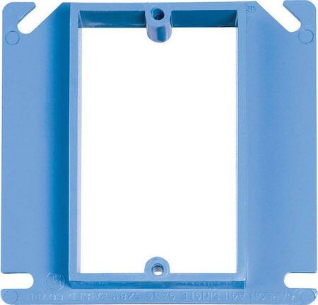 Carlon Square PVC 1 gang Box Cover For Use with Non-Metallic Sheathed Cable Blue