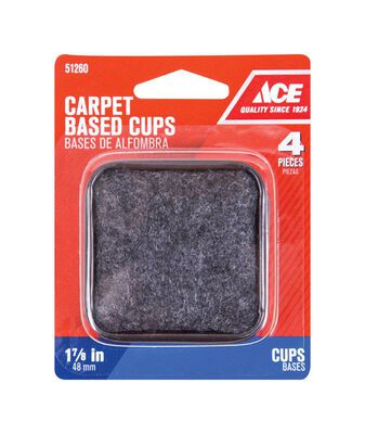 Ace Plastic Square Caster Cup Brown/Walnut 1-7/8 in. W x 1-7/8 in. L 4 pk