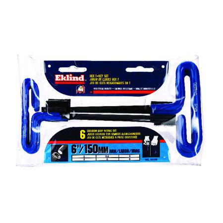 Eklind Tool 2-6mm Metric T-Handle Hex Key Set 6 in. 6 pc.