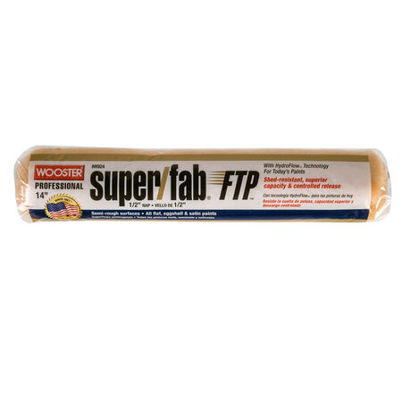 Wooster Super/Fab FTP Synthetic Blend 1/2 in. x 14 in. W Paint Roller Cover 1 pk