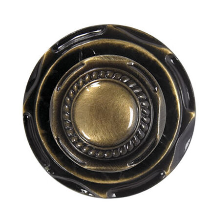 Amerock Allison Round Furniture Knob 2 in. Dia. 1 in. Antique English 1 pk