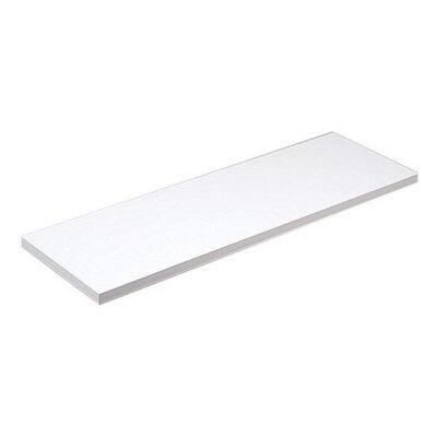 Knape & Vogt 8 in. H x 48 in. L x 8 in. W White Particleboard/Melatex Laminate Shelf Board