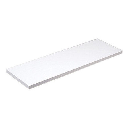 Knape & Vogt 8 in. H x 48 in. L x 8 in. W White Particleboard/Melatex Laminate Shelf Board