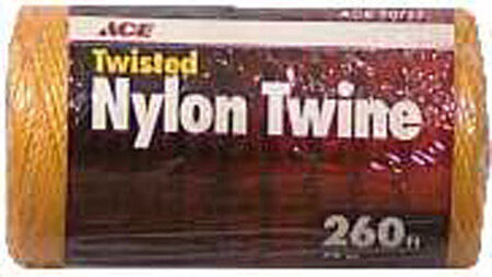 Ace 18 in. Dia. x 260 ft. L Twisted Nylon Twine Gold