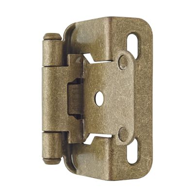 Amerock 2-1/4 in. L Self-Closing Hinge Burnished Brass