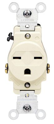 Leviton Electrical Receptacle 15 amps 6-15R 125 volts Ivory