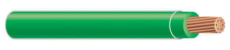 Southwire 500 ft. 6/1 THHN Stranded Wire Green - Sold by the foot