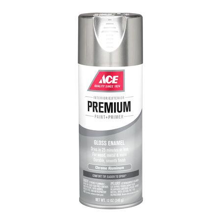 Ace Premium Gloss Chrome Aluminium Enamel Spray Paint 12 oz.