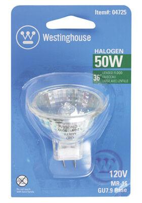 Westinghouse 50 watts 330 lumens 3050 K MR16 Floodlight White Halogen Light Bulb GU7.9/8.0
