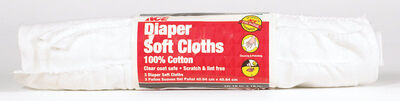 Ace Diaper Cotton Cleaning Cloth 16 in. W x 16 in. L 3 pk