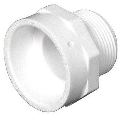 Charlotte Pipe 1-1/2 in. H x 1-1/2 in. Dia. MPT Pipe Adapter