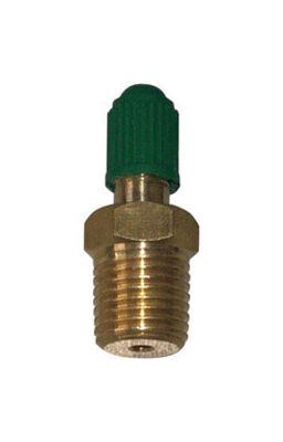 Campbell 1/4 in. Dia. x 1/4 in. Dia. Brass Snifter Air Valve