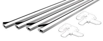 Prime-Line Up to 60 x 60 Frame Screen Frame Kit 3/4 in. W x 3/4 in. L White Aluminum