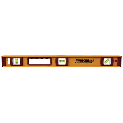 Johnson Aluminum I-Beam Level 24 in. L