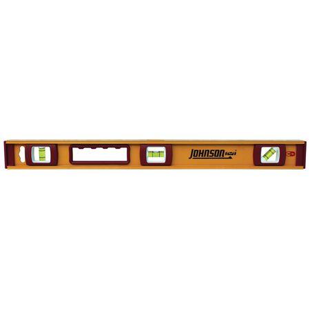 Johnson Aluminum I-Beam Level 24 in. L