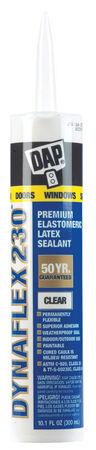 DAP Dynaflex 230 Clear Elastomeric Door, Trim and Window Sealant 10.1 oz.