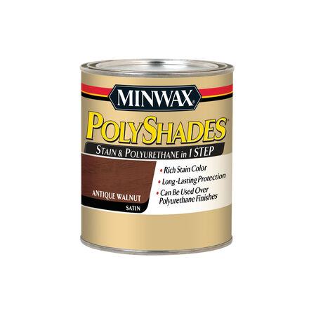 Minwax PolyShades Semi-Transparent Satin Antique Walnut Oil-Based Stain 1 qt.