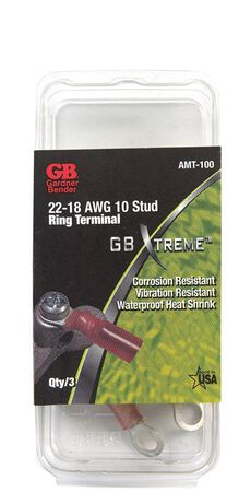 GB Industrial Ring Terminal 3 Nylon Red