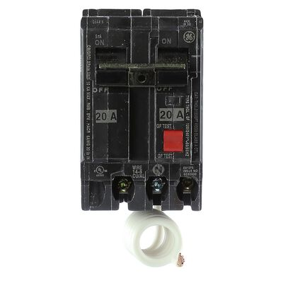GE Double Pole 20 amps Circuit Breaker With Self Test