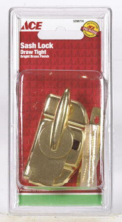 Ace Bright Brass Bright Brass Draw Tight Sash Lock Brass 1