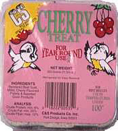 C&S Products Cherry Treat Assorted Species Suet Beef Suet 11.75 oz.