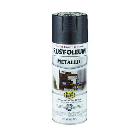 Rust-Oleum Stops Rust Black Night Metallic Spray Paint 11 oz.