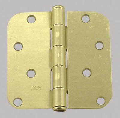 Ace Steel Residential Hinge 4 in. L Satin Brass 2 pk