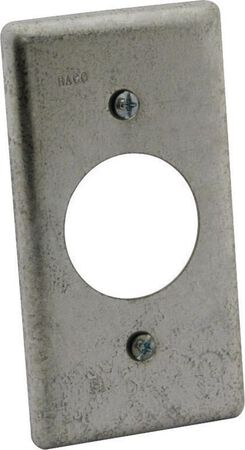 Raco Rectangle Steel 1 gang Box Cover For Single Gang Wall Plate Gray