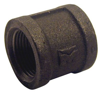 B & K 1 in. Dia. x 1 in. Dia. FPT To FPT Black Malleable Iron Coupling