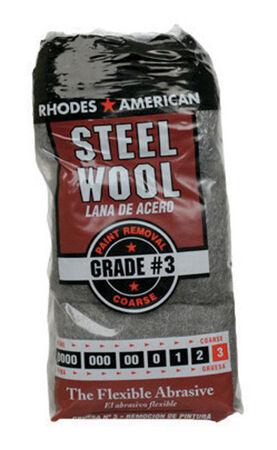 Rhodes American 3 Grade Coarse Steel Wool Pad 12 pk