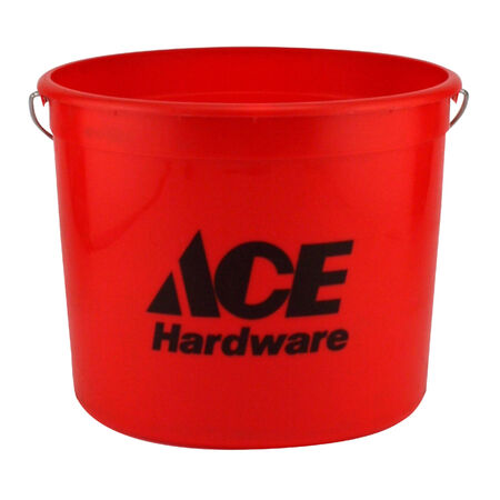 Ace Red 10 qt. Plastic Bucket