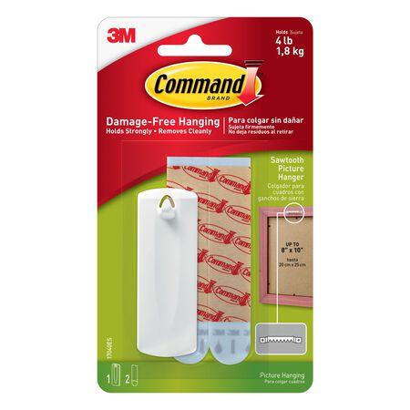 3M Command 5 lb. Sawtooth Picture Hanger Plastic 1 pk