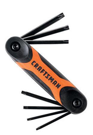 Craftsman Fold-Up Tamper Resistant Torx Hex Key Set 7 pc.