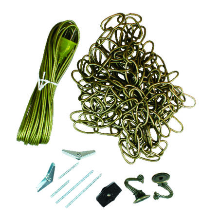 Jandorf Swag Kit Antique Brass 20 and 15 ft. L 1 pk
