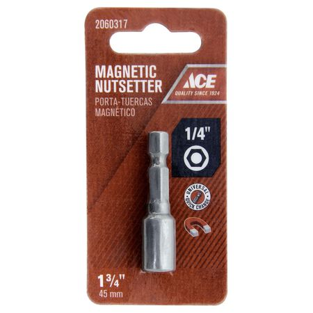 Ace 1/4 in. x 1-3/4 in. L Magnetic Nutsetter