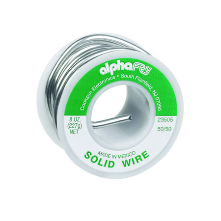 Alpha Fry 8 oz. For Non-Electrical Solid Wire Solder Tin / Lead 50% Tin 50% Lead