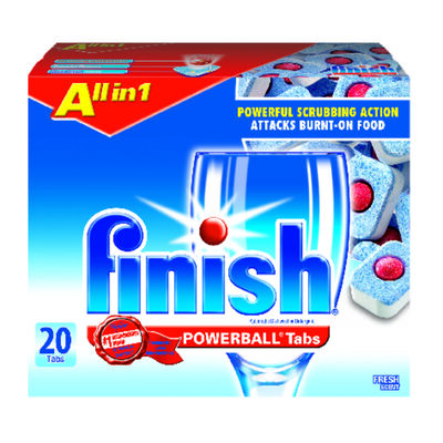 Finish Powerball Tabs 20 pk Fresh Scent Dishwasher Detergent