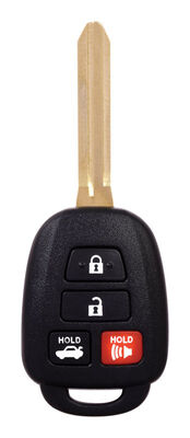 DURACELL Renewal Kit Automotive Replacement Key Toyota 4-Button New Style Remote Head Key Case &