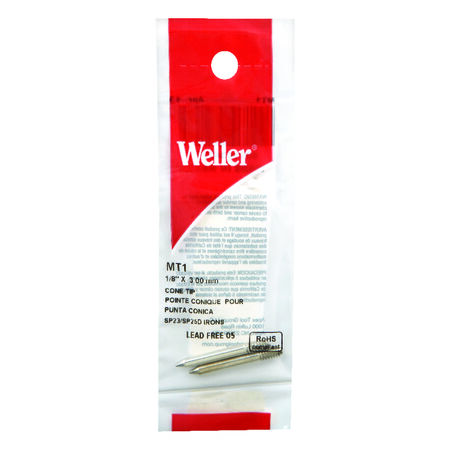Weller Replacement Tip 1/8 in. Dia. Soldering Tip Nickel Plated Copper