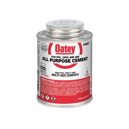 Oatey Clear PVC/CPVC All-Purpose Cement 8 oz.