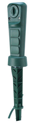 Coleman Cable Outdoor 3 Outlet Power Stake Timer 10 amps Green