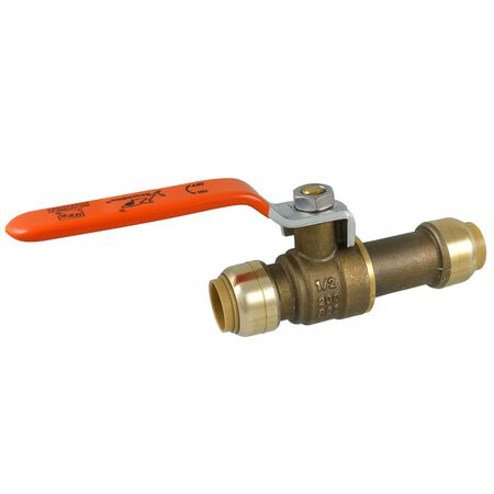 SharkBite Slip Ball Valve 1/2 in. Dia. x 1/2 in. Dia. Brass