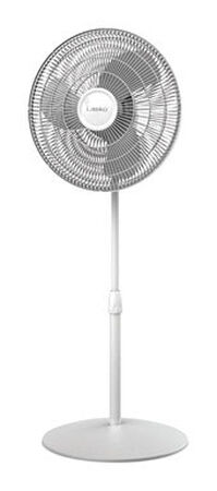 Lasko Pedestal Fan 47 in. H x 18 in. L x 17 in. W x 16 in. Dia. 3 speed Oscillating AC 3 blade Wh