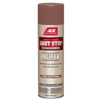 Ace Rust Stop Interior and Exterior Primer 15 oz. Brown