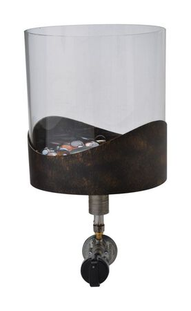 Bond Manufacturing TableFire Roxbury Propane Firebowl 10-1/2 in. H x 8 in. W Steel