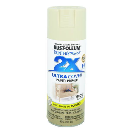 Rust-Oleum Painters Touch 2X Ultra Cover Gloss Almond Spray Paint 12 oz.
