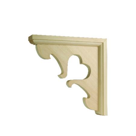 Waddell Hardwood Satin Decorative Shelf Bracket 7 in. L x 1-1/2 in. W x 7 in. H